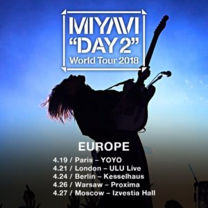 Miyavi: European mini tour in April