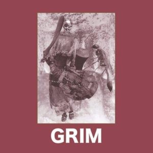 Two upcoming releases by GRIM, out on cassette and 10″ vinyl